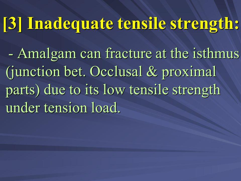 [3] Inadequate tensile strength: